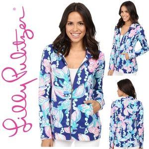 Lilly Pulitzer Reagan Zip-Up Sweater Shirt Sz XS